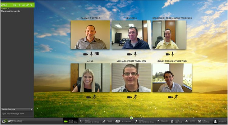Video conference with up to 6 people