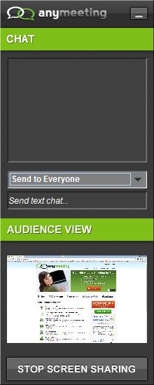 Screen Sharing Widget
