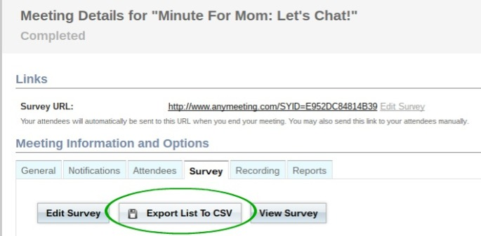 Survey - Export Data